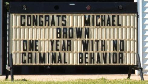 Michael Brown sign